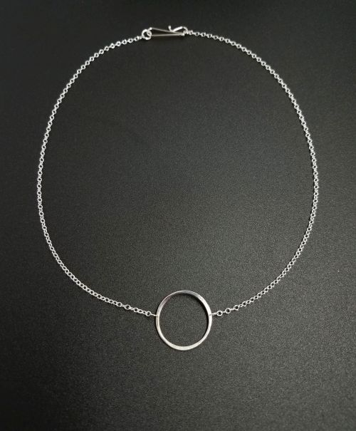 Simple Sterling Silver Circle