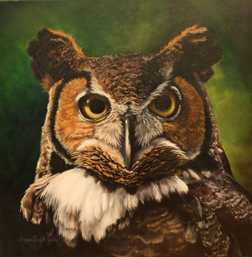 Horned Owl II 20 x 20