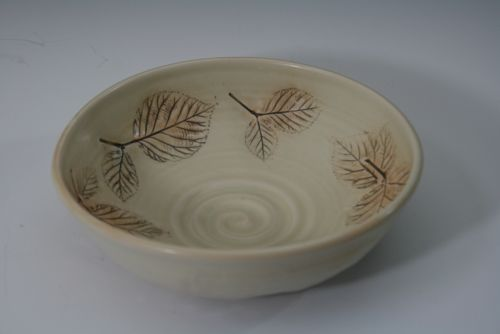 Bowl with Leaf Impression