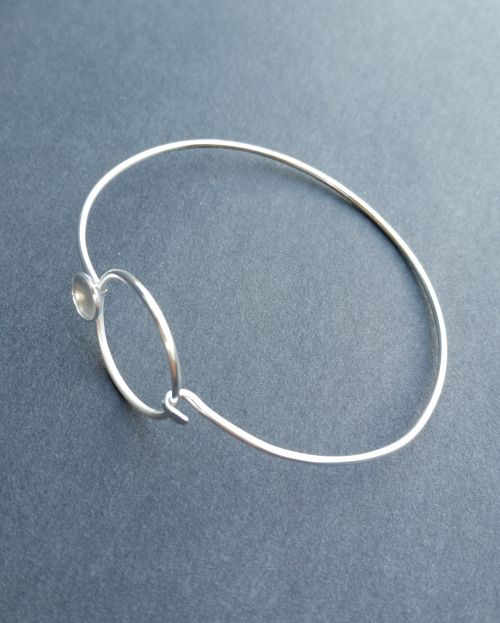 Circle with a Dome Bracelet