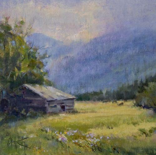 Cataloochee Valley 18 x 18