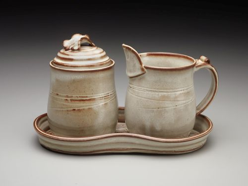 Sugar, Creamer, Tray Set