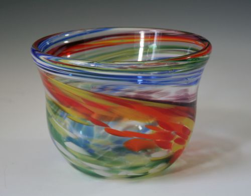 Rainbow Glass Bowl
