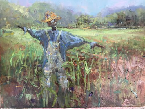 Greene's Scarecrow 21 x 25 framed