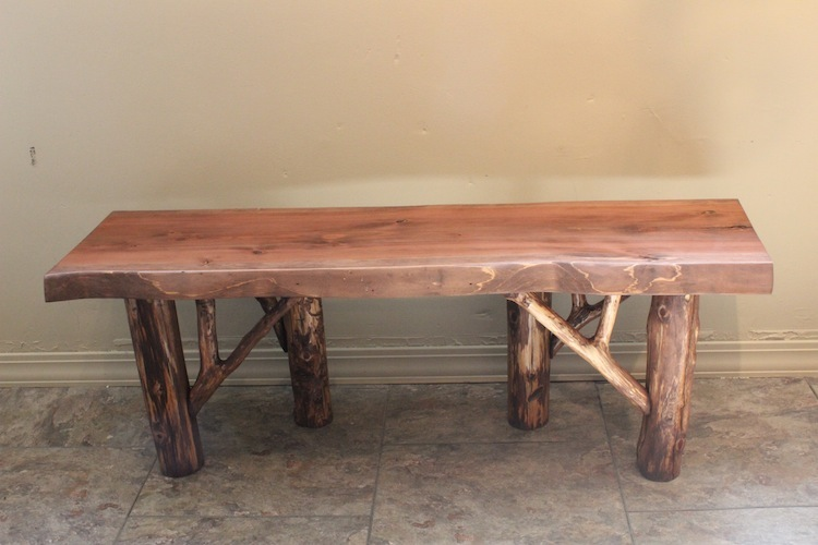 Hand Rubbed Cedar Bench