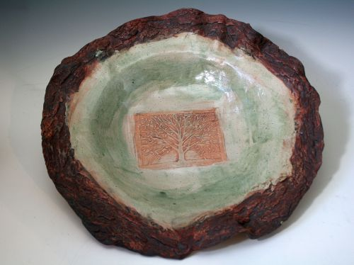 Tree Platter with Bark Texture