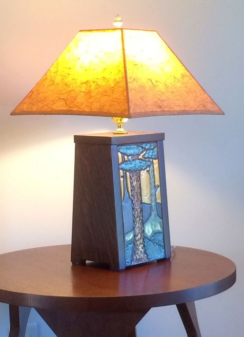 Arts and Crafts Tree Lamp