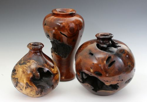 Burl Vase Assortment