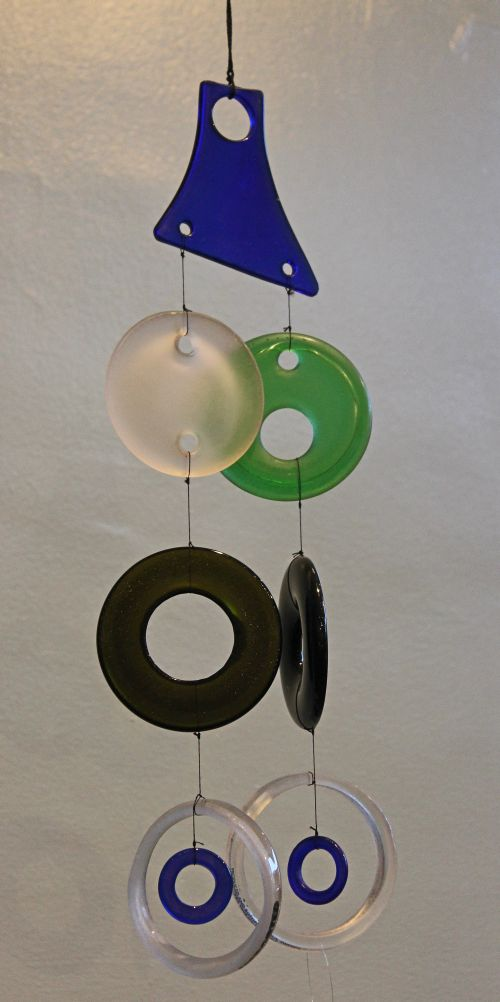 Recycled Wine Bottle Wind Chime