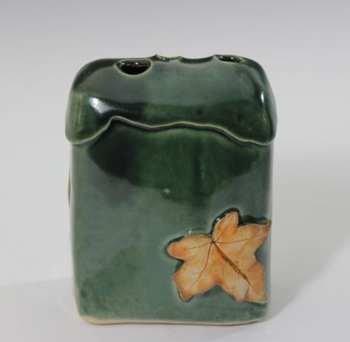 Flower Brick - Small, Dark Green