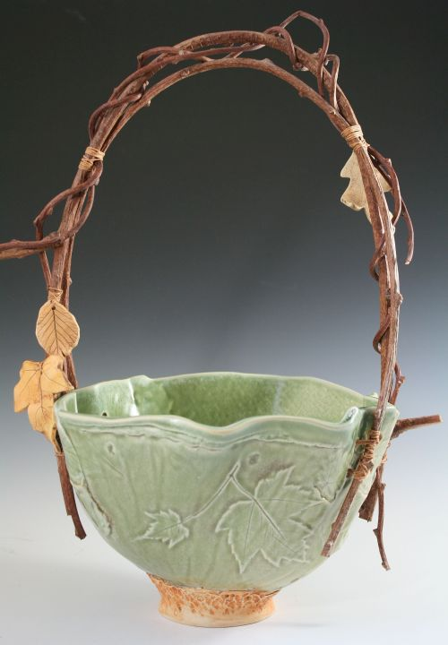 Leaf Textured Basket Spearmint