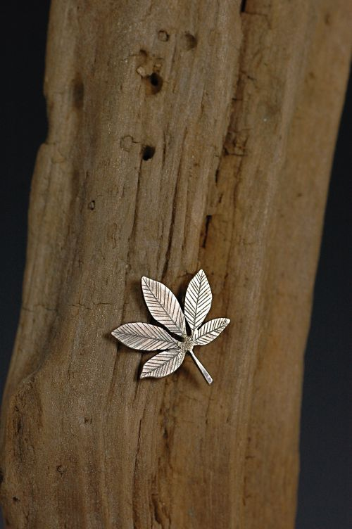 Buckeye Leaf Pin
