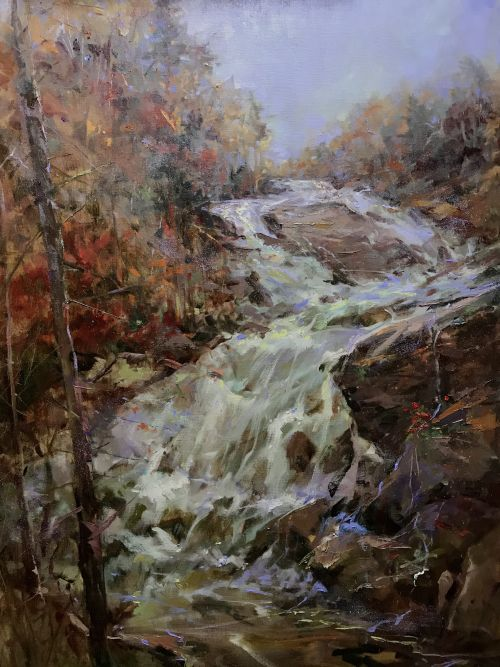 November at Triple Falls 45 x 35 framed