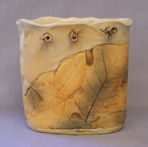 Oval Vase with Bamboo