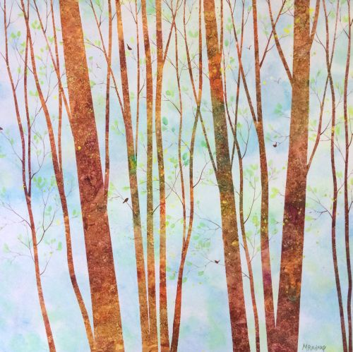 Pisgah Forest II 19 x 19 on wood