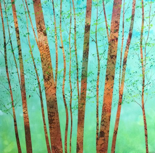 Pisgah Forest I 19 x 19 on wood