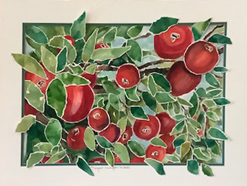 Red Delicious 23 x 29.5 framed