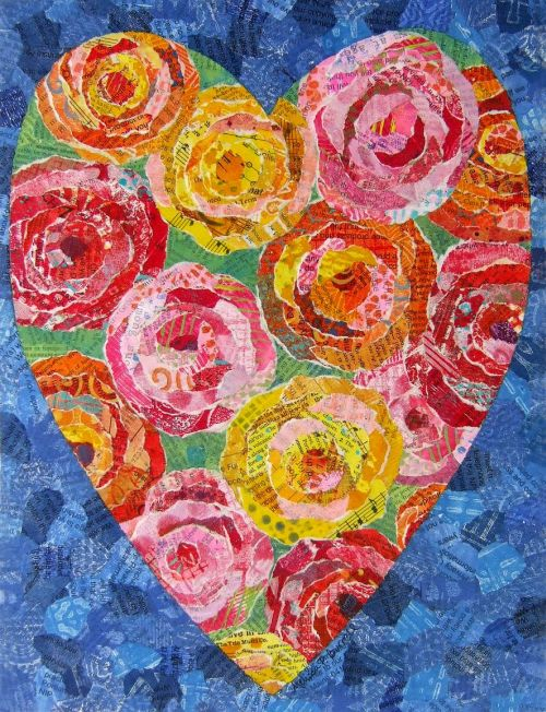 Roses Bouquet 9 x 12 on Wood