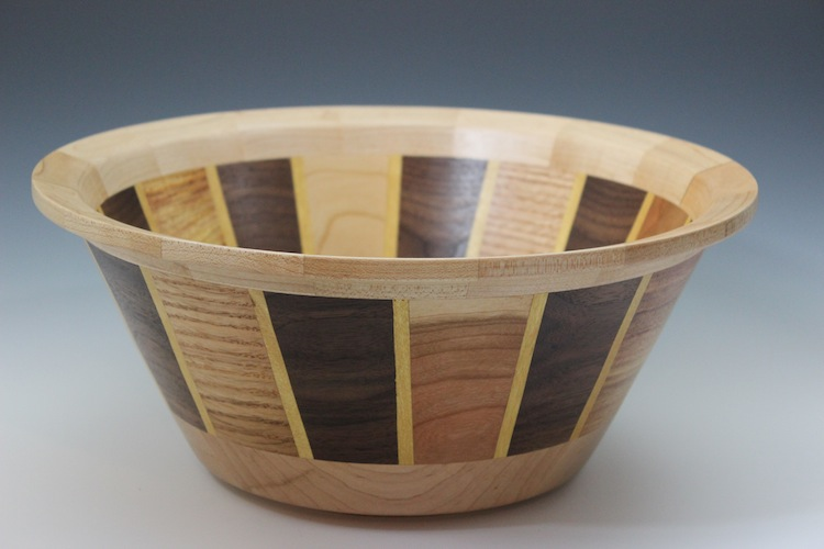 Tall Segmented Bowl