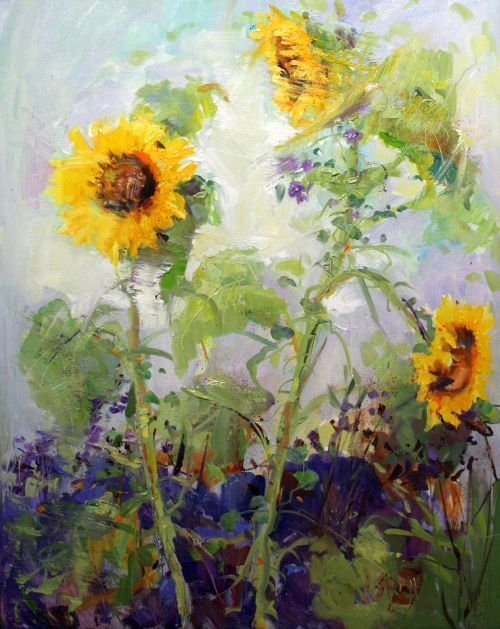 September Sunflowers 35 x 29 Framed