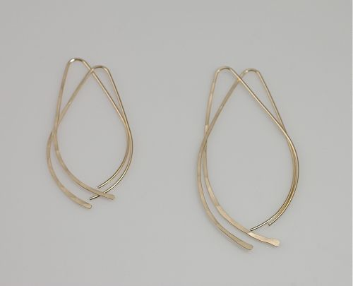 Small Ovate GF Wire Earrings