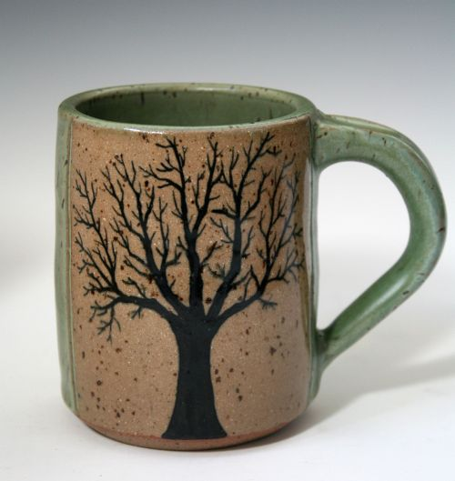 Small Green Tree Mug