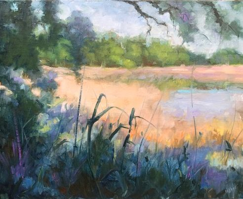 Spring Marsh 24 x 29 Framed