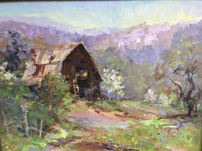 Spring in the Mountains 25 x 29 Framed