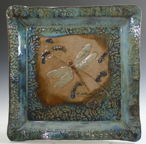 Square Dragonfly Plate