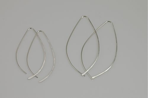 Sterling Silver Open Wire Hoops