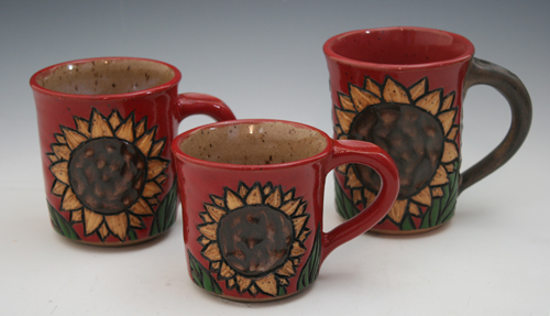 Sunflower Mugs ($38-$48)