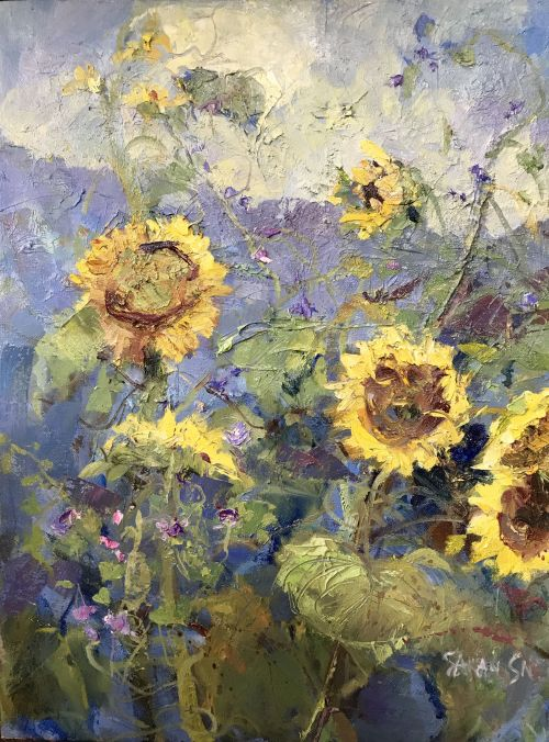 Sunflower Daze 21 x 25 Framed