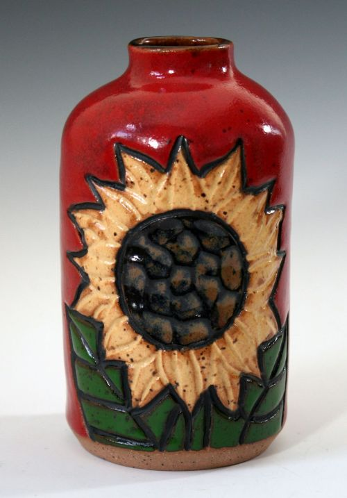 Tall Sunflower Bud Vase