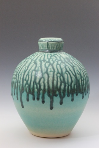 Vase Green and Turquoise