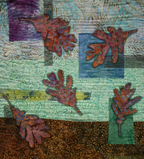 Windswept Oak Leaves 22 x 21 wall hanging