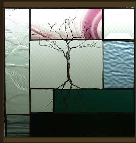 Tree with Soft Colored Stained Glass